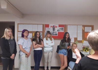 Spotkanie uczniów w internacie