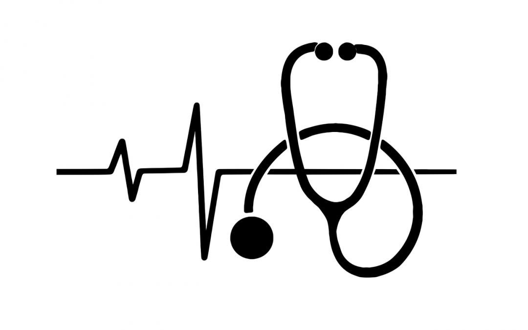 Obrazek przedstawia stetoskop ikona medyczna do artykułu